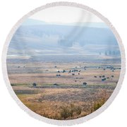 Oh Home On The Range Round Beach Towel by Cheryl Baxter