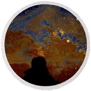 Oil On Pavement Visionary Round Beach Towel