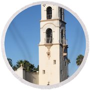 Ojai Post Office Tower Round Beach Towel