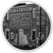 Old Building In Salisbury Nc Round Beach Towel by Wilma  Birdwell