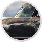 Old Plymouth  Round Beach Towel by Heidi Hermes