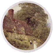 Old Post Office Brook Near Witley Surrey Round Beach Towel