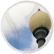 Old Street Light Round Beach Towel