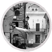 Round Beach Towel featuring the photograph Old Town by Pedro Cardona