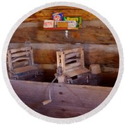 Round Beach Towel featuring the photograph Old West 2 by Deniece Platt