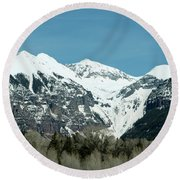 Round Beach Towel featuring the photograph On The Road To Telluride by Lorraine Devon Wilke