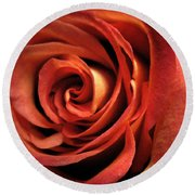 Orange Rose Round Beach Towel by Nancy Griswold