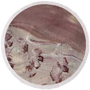 Orchid River Round Beach Towel
