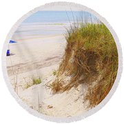 Round Beach Towel featuring the photograph Outerbanks by Lydia Holly