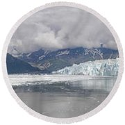 Overview Of Disenchantment Bay Round Beach Towel