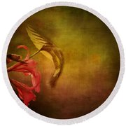 Round Beach Towel featuring the photograph Painterly Ballet by Anne Rodkin