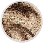 Palm Fragment Round Beach Towel