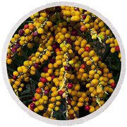 Palm Seeds Baroque Round Beach Towel by Steven Sparks