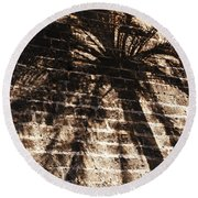 Palm Tree Cup Round Beach Towel