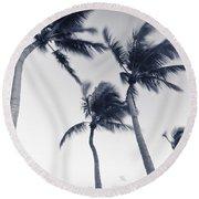 Palms 5 Round Beach Towel