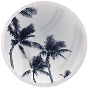Palms 6 Round Beach Towel