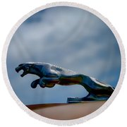 Panther Hoodie Round Beach Towel by Douglas Pittman