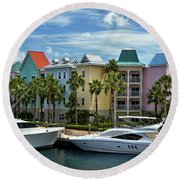Round Beach Towel featuring the photograph Paradise Island Style by Steven Sparks