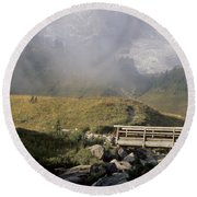 Round Beach Towel featuring the photograph Paradise Valley by Sharon Elliott
