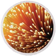 Pasta Illumination Round Beach Towel