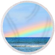 Pastel Rainbow Round Beach Towel