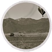 Round Beach Towel featuring the photograph Pastoral Surprise by Eric Tressler