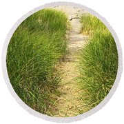 Path To Beach Round Beach Towel