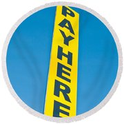 Pay Sign Round Beach Towel