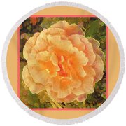 Peach Begonia Round Beach Towel