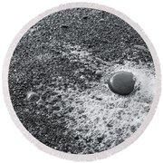 Pebble On Foam Round Beach Towel
