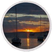 Perfect Ending In Puerto Rico Round Beach Towel