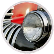 Pickup Chevrolet Headlight. Miami Round Beach Towel