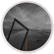 Picturing The Road Ahead Round Beach Towel