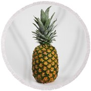 Pineapple Round Beach Towel by Photo Researchers, Inc.