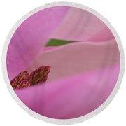 Pink Magnolia Round Beach Towel