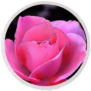 Round Beach Towel featuring the photograph Pink Rose Day by Clayton Bruster