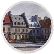 Place Royale Round Beach Towel by Eunice Gibb