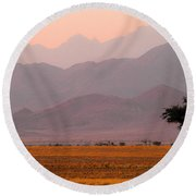 Plain Tree Round Beach Towel