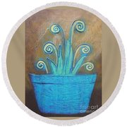 Plant Pot Round Beach Towel