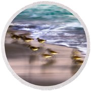 Playing Pipers Round Beach Towel