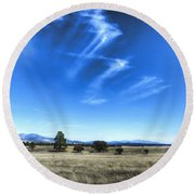 Point Of Pines - San Carlos Indian Reservation Round Beach Towel