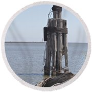 Round Beach Towel featuring the photograph Port Of Rochester by William Norton