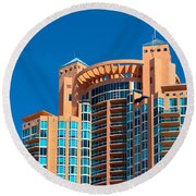 Portofino Tower At Miami Beach Round Beach Towel