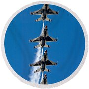 Round Beach Towel featuring the photograph Precision by Dan Wells