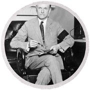 President Calvin Coolidge Round Beach Towel by International  Images
