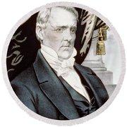 President James Buchanan Round Beach Towel