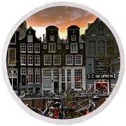 Prinsengracht 458. Amsterdam Round Beach Towel