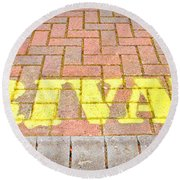Private Sign Round Beach Towel