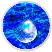 Round Beach Towel featuring the digital art Prophecy - The Second Coming Of The Lord by Fania Simon