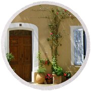 Round Beach Towel featuring the photograph Provence Door 3 by Lainie Wrightson